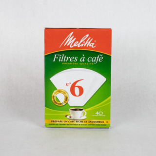 Melitta #6 Cone Filter - White 40 Count