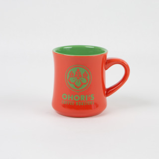Orange Ceramic Mug with Ohori's Logo